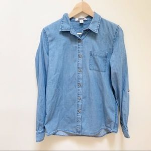 Adam Levine chambray button down shirt S
